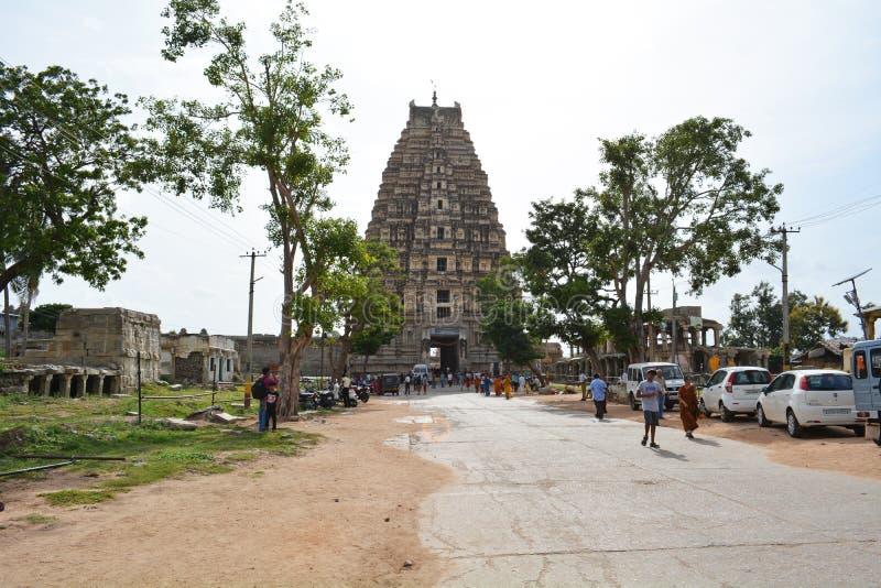 De tempel van Virupaksha van Hampi royalty-vrije stock afbeeldingen