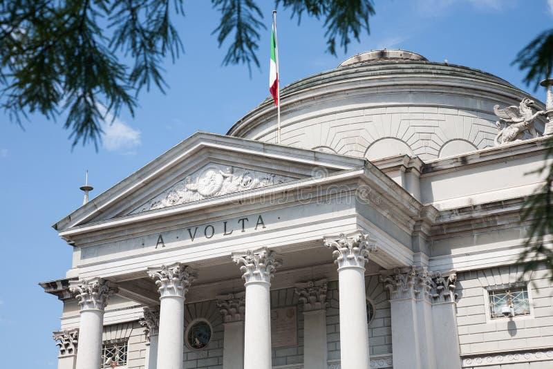 De Tempel van Volta, Como, Italië stock afbeeldingen
