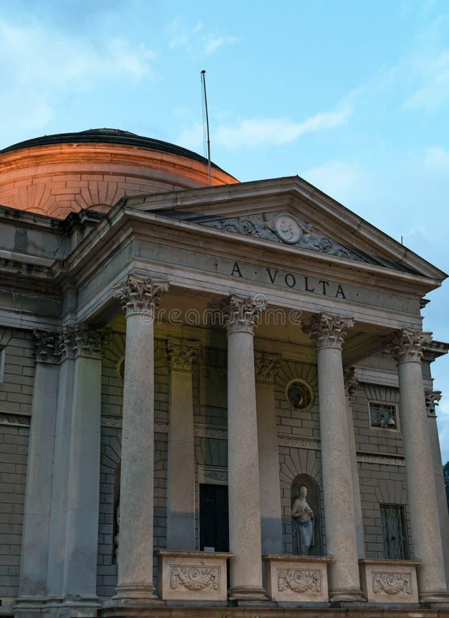 De Tempel van Volta royalty-vrije stock afbeeldingen