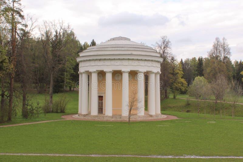 De Tempel van Vriendschap in Pavlovsk Park stock foto