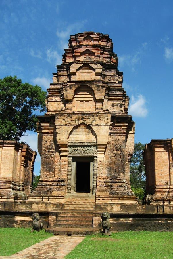 De Tempel van Wat van Angkor, Kambodja stock foto