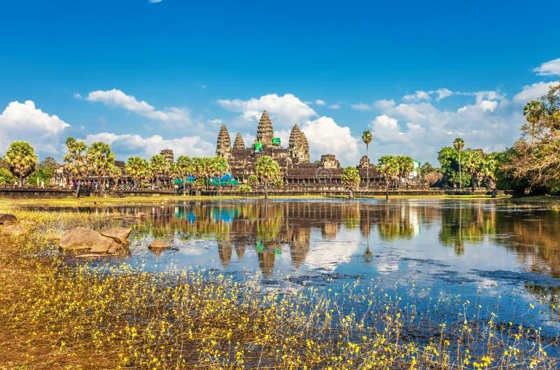 De Tempel van Wat van Angkor stock afbeeldingen