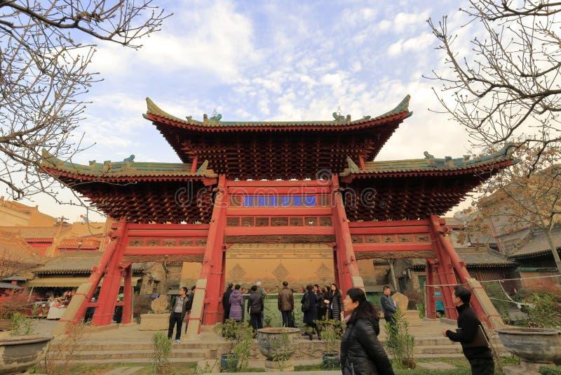 De tempel van Xianchenghuangmiao stock afbeeldingen