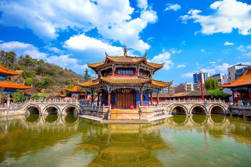 De Tempel van Yuantongkunming van Yunnan stock foto's