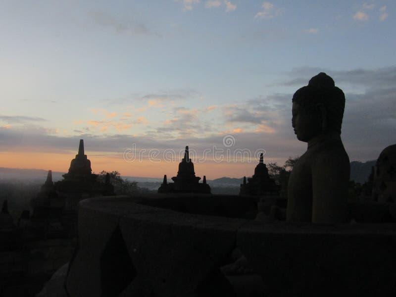 De tempel Yogyakarta van Buddist van Borobudur Java, stock fotografie