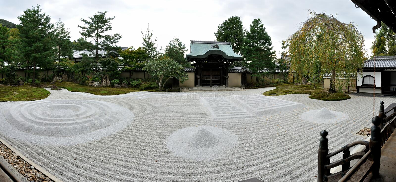De tempel zen tuin van Kyoto Kodaiji royalty-vrije stock fotografie