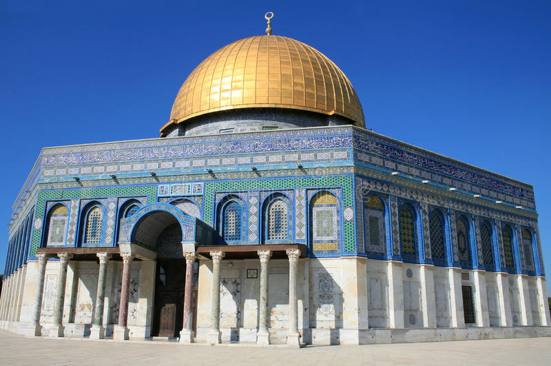 De tempel zet in Jeruzalem, Koepel op van de Rots royalty-vrije stock fotografie