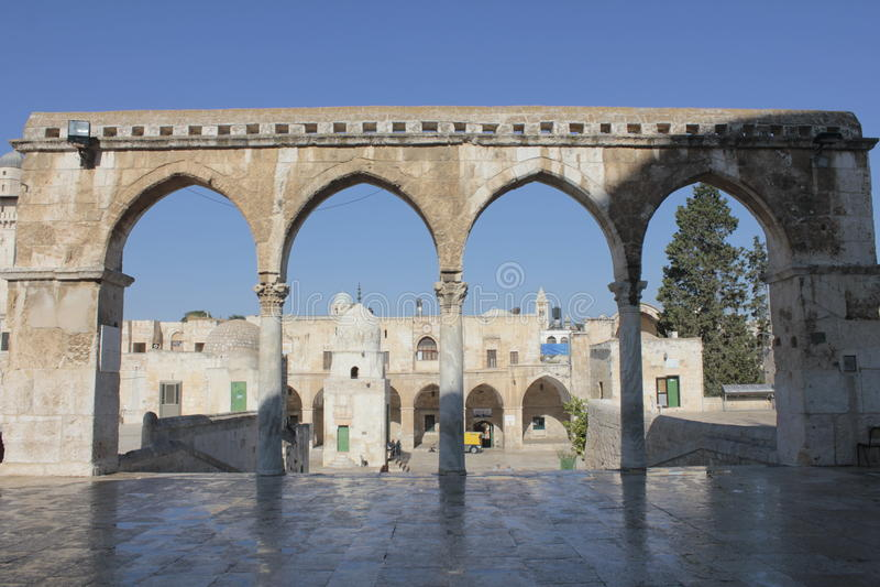 De tempel zet in Jeruzalem op stock foto