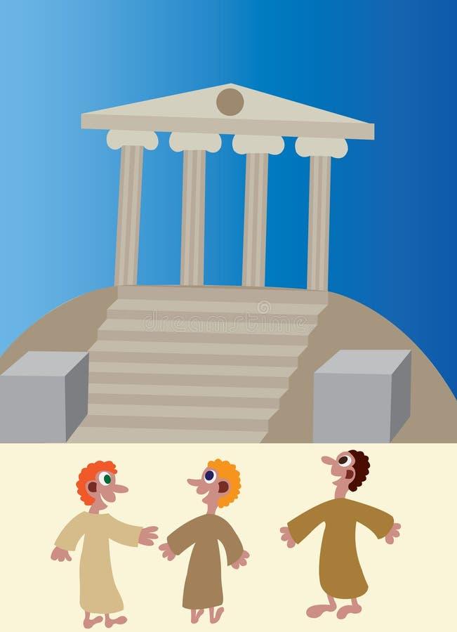 De tempel zet op stock illustratie