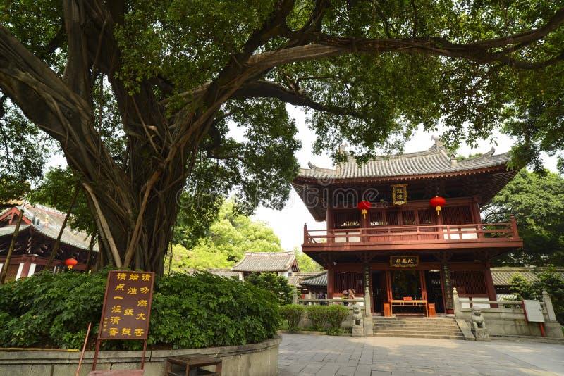 De tempelbouw bij de Guangxiao-Tempel, Guangzhou stock fotografie