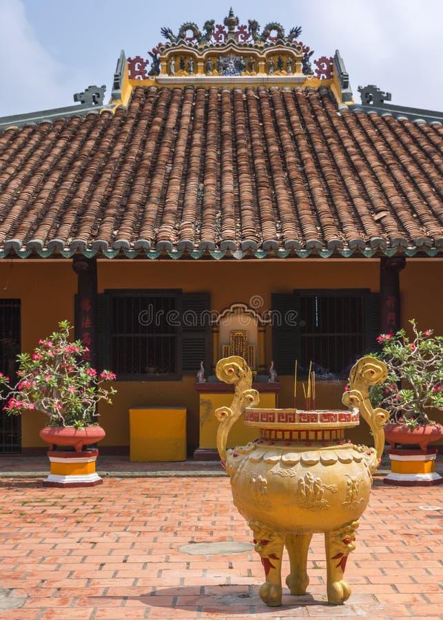 De tempelbouw in Giac Lam Buddhist Pagoda in Saigon. royalty-vrije stock fotografie