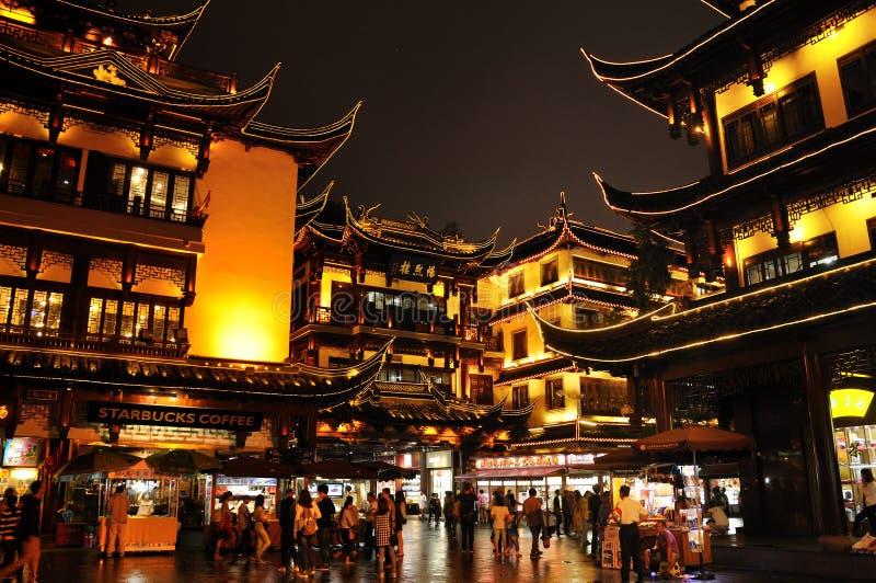 De tempelgebied van de stadsgod in Shanghai China stock foto's