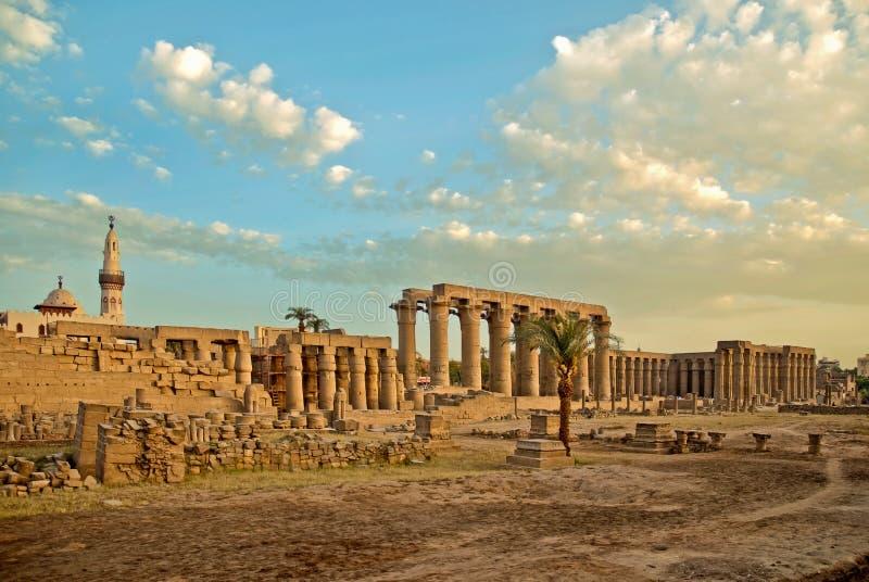 De tempelgebied van Luxor royalty-vrije stock fotografie