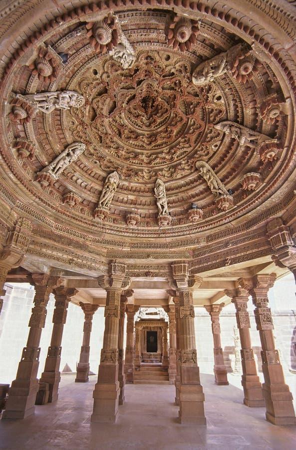 De tempelplafond van Rajasthan stock foto's
