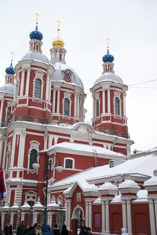 De tempelpost van Moskou op metro Tretyakovskaya in Moskou royalty-vrije stock afbeeldingen