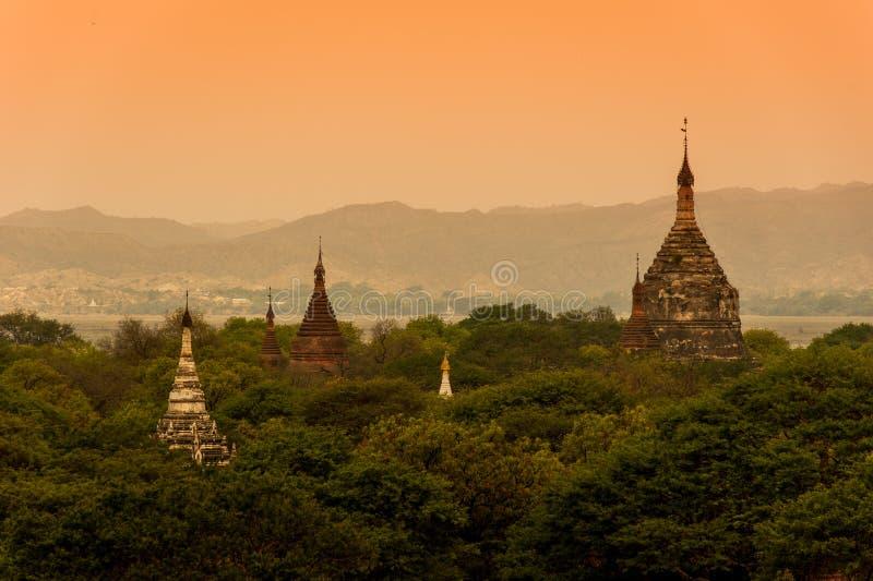 De tempels van Bagan, Myanmar stock afbeeldingen