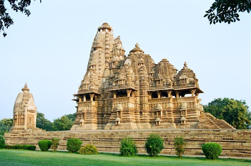 De Erotische Tempels van India in Khajuraho royalty-vrije stock fotografie