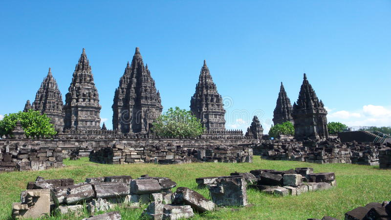 De tempelsamenstellingen van Prambanan royalty-vrije stock afbeelding