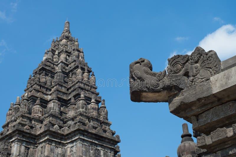 De tempelsamenstellingen van Prambanan stock foto