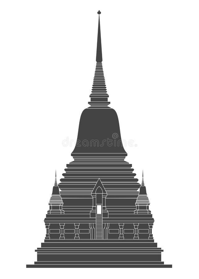 De Tempelvector van Thailand stock illustratie