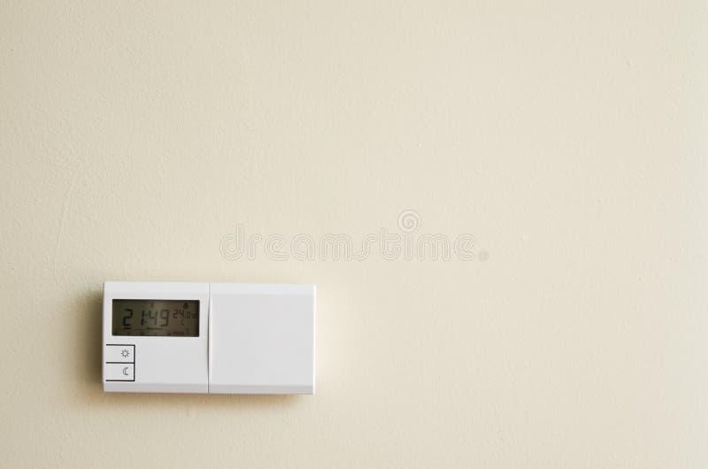 De temperatuur van het huis stock afbeeldingen