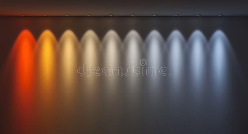 De temperatuurkleuren van Kelvin stock illustratie