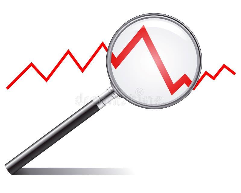 De tendens van de verkoop royalty-vrije illustratie
