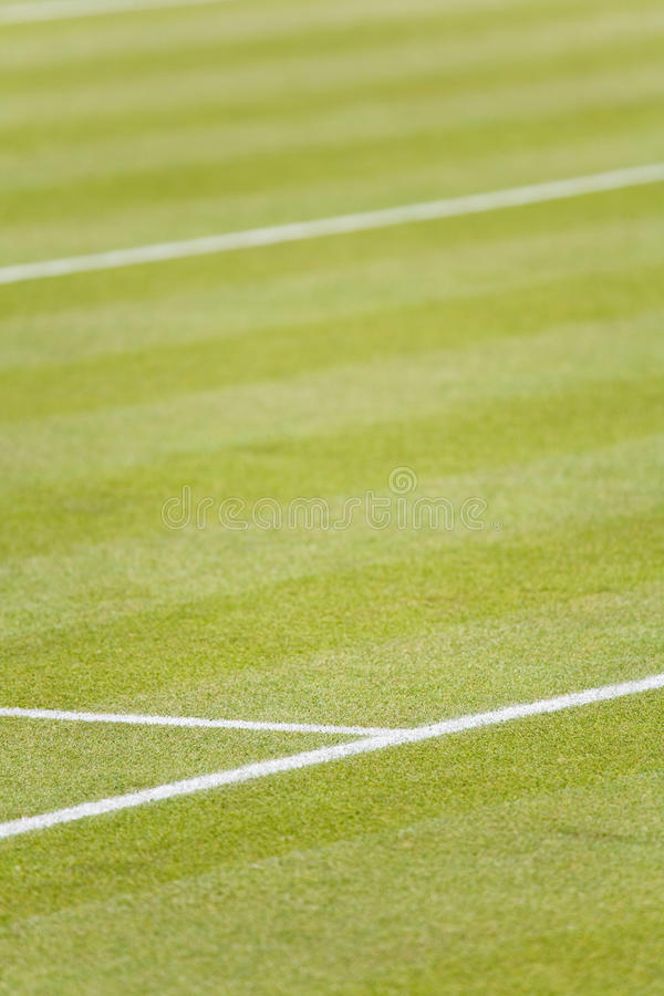De tennisbaan van het gras stock afbeeldingen