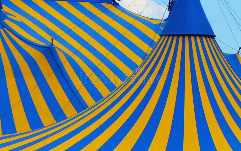 De tent dicht omhooggaand Montreal van Cirque stock afbeeldingen