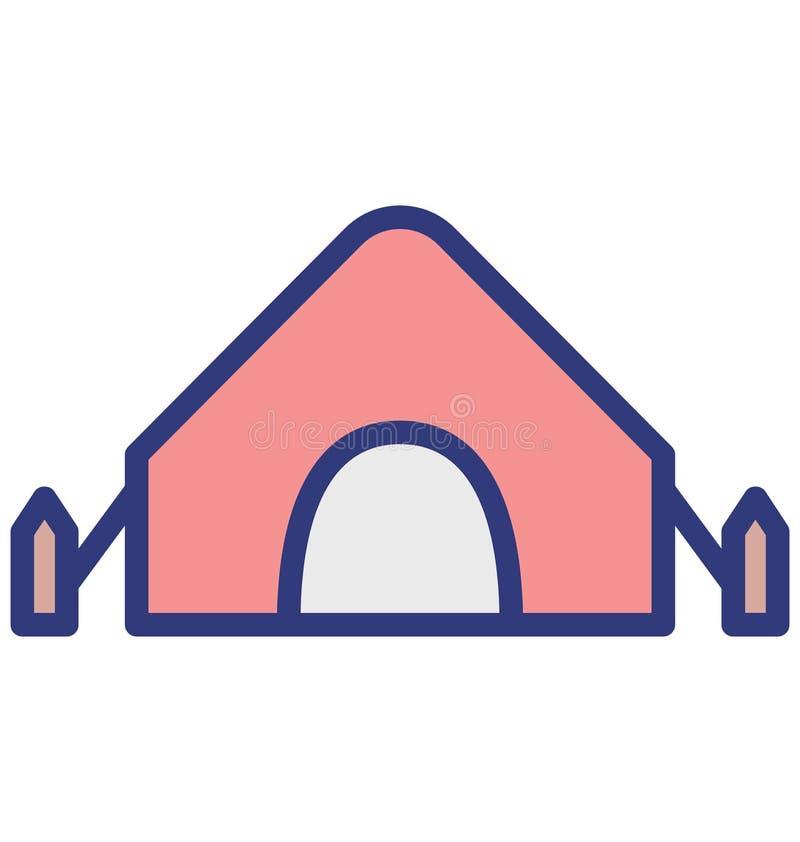De tent isoleerde Vectorpictogram dat zich gemakkelijk kan wijzigen of uitgeven royalty-vrije illustratie