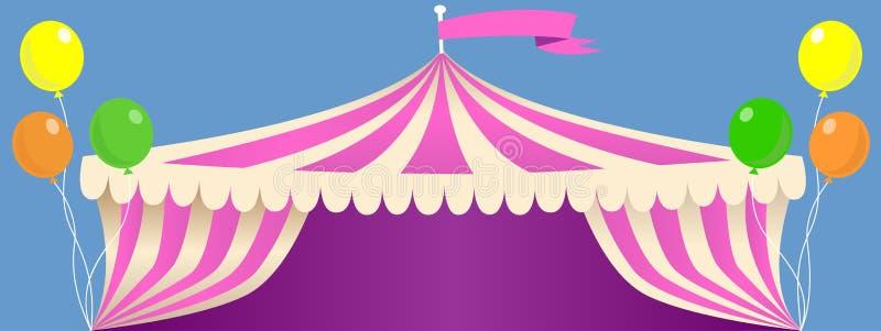 De Tent van circuscarnaval royalty-vrije illustratie