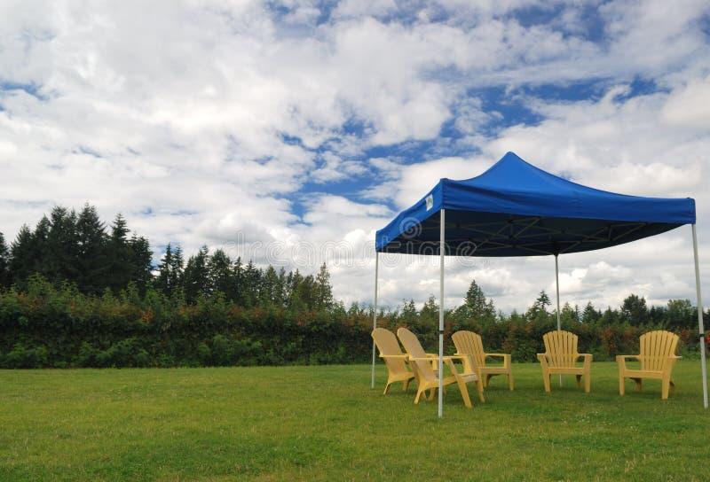De tent van de picknick royalty-vrije stock afbeelding