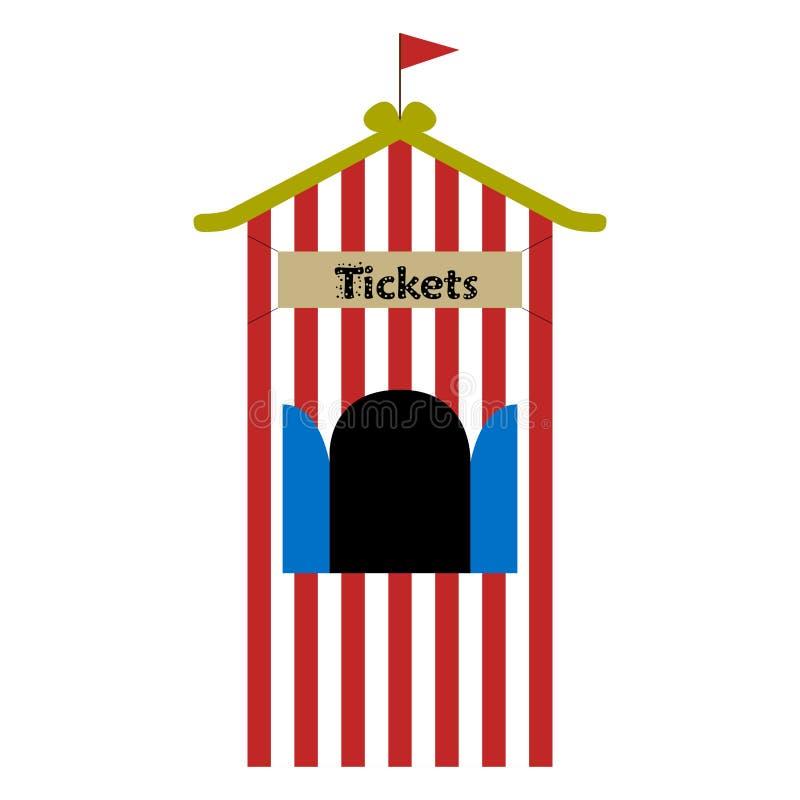 De tent van de kaartjeswinkel stock illustratie