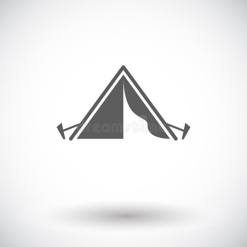 De tent van de toerist stock illustratie
