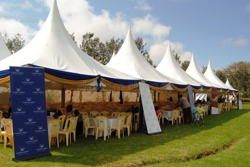 De Tenten Nairobi Kenia van het gebeurtenisbeheer stock afbeelding