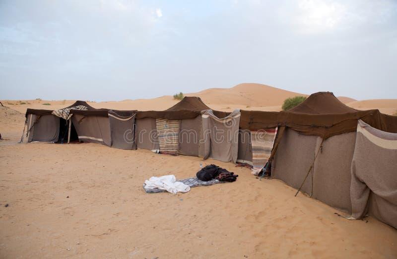 De tenten van Berber in de woestijn royalty-vrije stock foto's