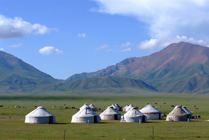 De tenten van Kazachstan stock foto
