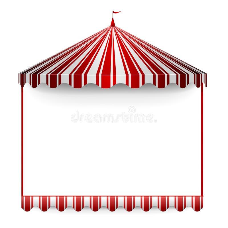 De tentframe van Carnivals vector illustratie