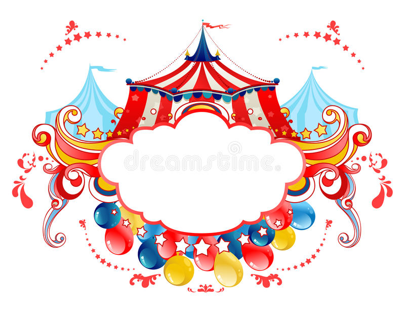 De tentframe van het circus stock illustratie