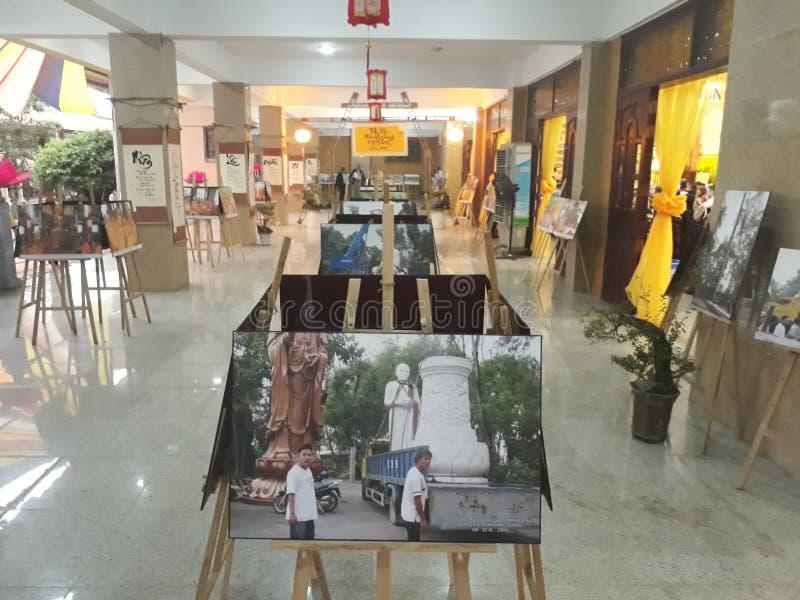 De Tentoonstelling van het Buddabeeld stock fotografie