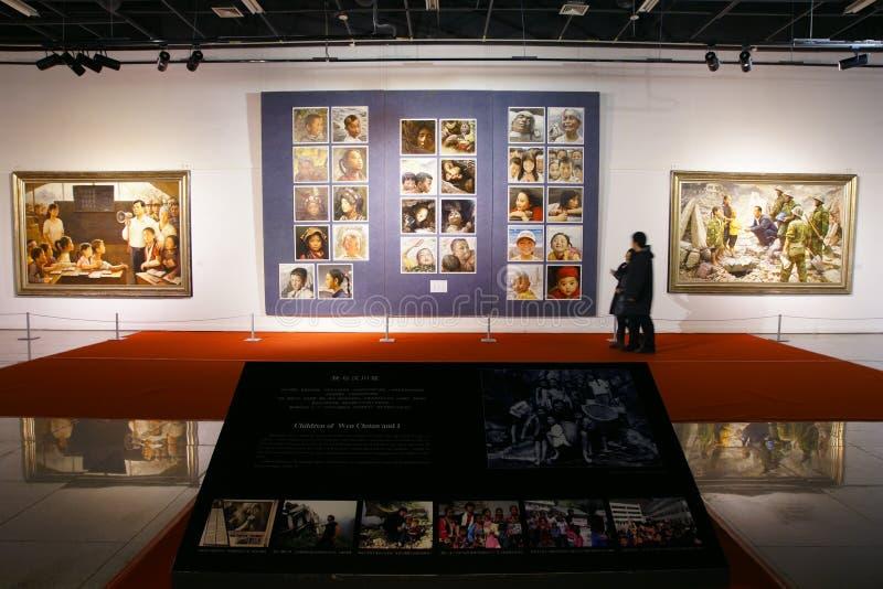 De tentoonstelling van schilderijen royalty-vrije stock foto