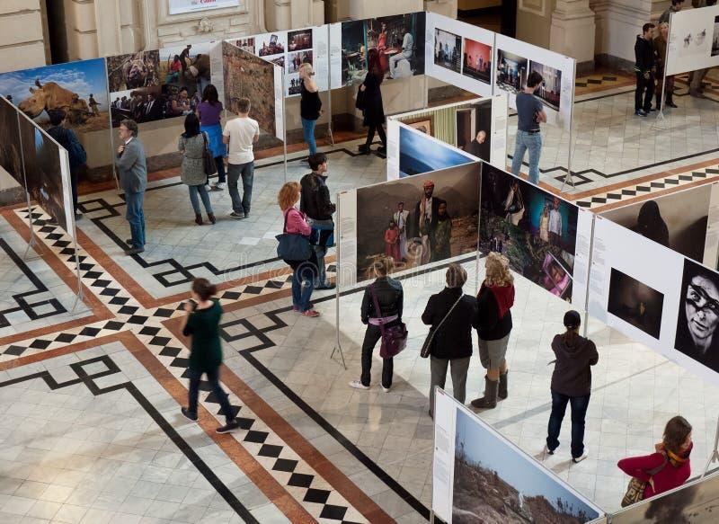 De tentoonstelling van World Press Photo in Boedapest royalty-vrije stock afbeeldingen