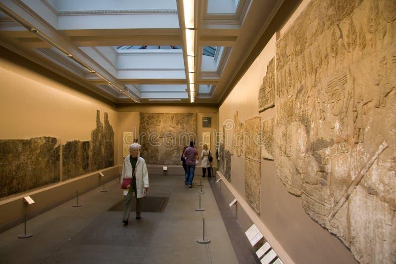 De tentoonstellingen van British Museum stock afbeeldingen