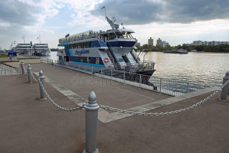 De Terminal of Rechnoy Vokzal van de het noordenrivier in Moskou Rusland stock afbeelding