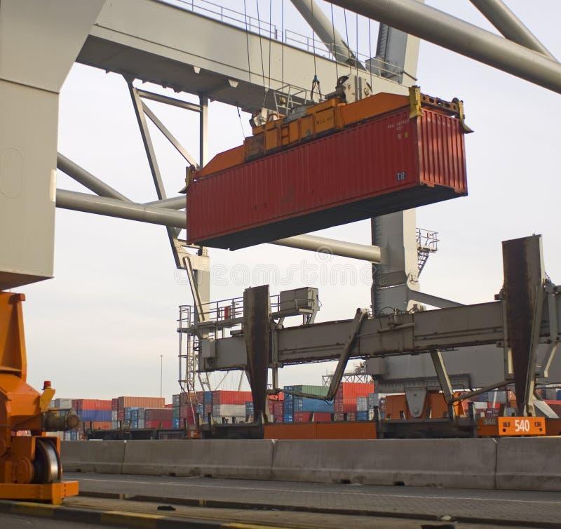De terminal van de container royalty-vrije stock foto
