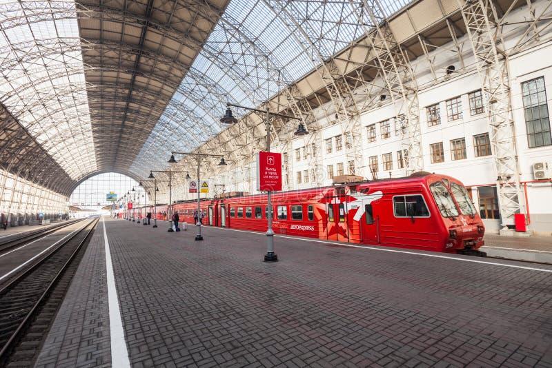 De terminal van de Kiyevskyspoorweg stock afbeelding