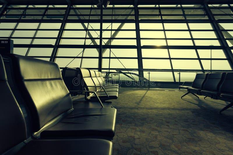 De Terminal van de luchthaven stock afbeeldingen