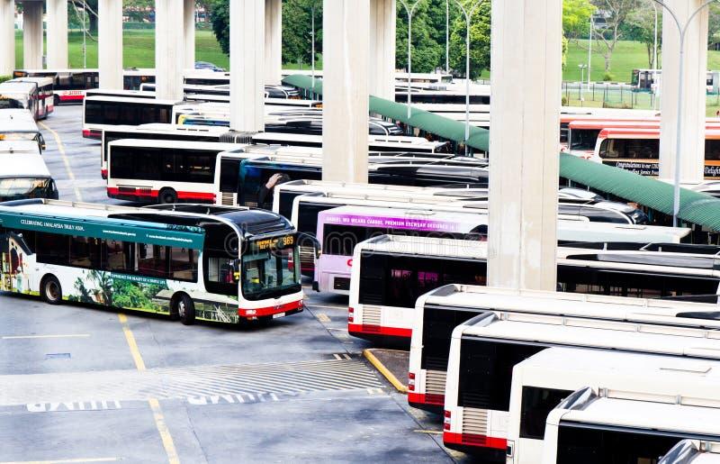 De terminal van de openbaar vervoerbus royalty-vrije stock foto