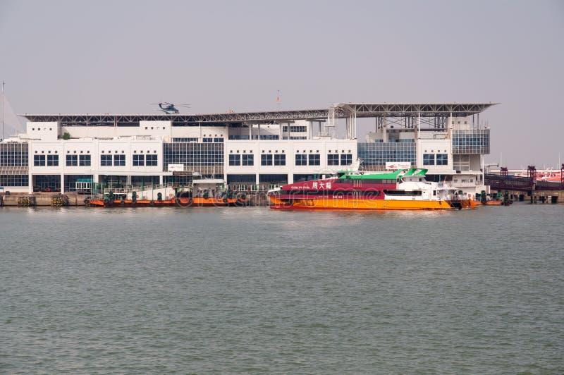 De terminal van de veerboot, Macao stock foto's