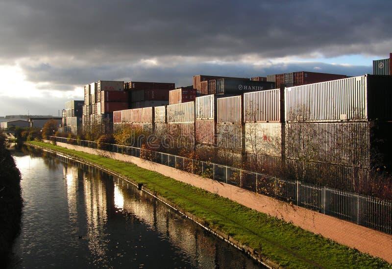 De Terminal van de vracht stock afbeelding